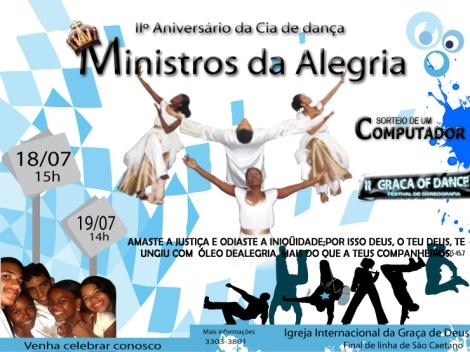 IIº aniversário da Cia Ministros da Alegria